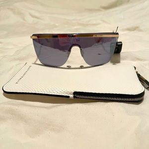 Quay Get Right Flat Top Shield Sunglasses